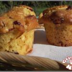 Muffins cranberries et chocolat blanc