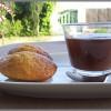 Crème chocolat noir et madeleines au pain d'épices