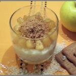 Riz au lait, pommes et spéculoos