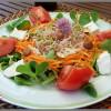 salade de crudités au chèvre frais