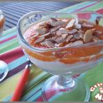 Verrines compotée d'abricots et fromage blanc