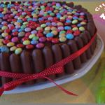 Gâteau d'anniversaire aux fingers et aux smarties