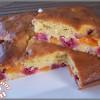Gâteau au yaourt framboises et abricots