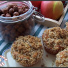 Muffins aux pommes et crumble noisette