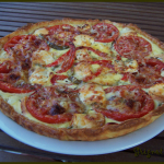 Quiche tomates, poivrons et chèvre