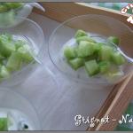 Verrines au concombre et au yaourt grec pour l'apéritif
