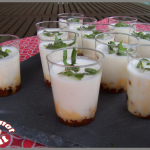 Verrines de panna cotta au parmesan & tomates séchées