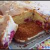 Gâteau au lait concentré et aux framboises
