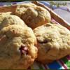 cookies chocolat blanc, cranberries et amandes