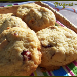 cookies chocolat blanc, cranberries et amandes