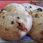 cookies caramel, chocolat, noisettes