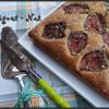 Gâteau noisette et figues fraîches