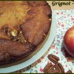 gâteau pommes, cranberries, noix de pécan