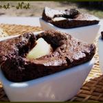 Petits gâteaux chocolat au coeur de poire