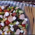 Salade fraicheur au poulet, avocat et chèvre frais