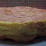 Tatin savoyarde (pomme de terre, lard, reblochon)