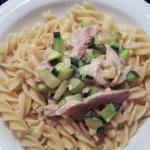 fusilini semi-complète au poulet et courgette