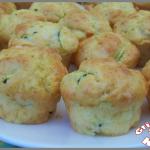 Muffins au chèvre et à la courgette