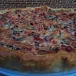 Tarte tomates, courgettes et basilic