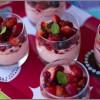 Verrines de mousse aux fruits rouges