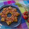 Pizza étoile jambon, tomates cerises et olives