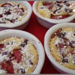 Clafoutis aux cerises et aux fraises