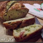 cake asperges vertes et bacon