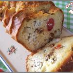 Cake tomates cerise, tomates séchées et boursin