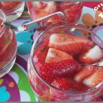 salade de fraises au vin rosé