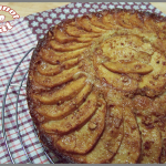 Gâteau renversé à la ricotta, pommes et caramel