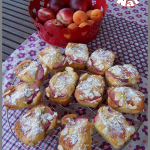 mini cakes abricots et nectarines