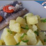 Salade de pommes de terre aux cébettes