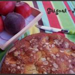 Gâteau aux nectarines et aux amandes