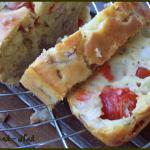 cake tomate, poulet et poivron rouge