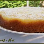 Gâteau renversé ananas et noix de coco