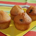 Muffins chocolat et orange confite