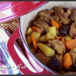 Sauté de porc au safran et aux pruneaux