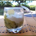 Verrines courgettes et crème de parmesan