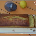 Cake citron, miel et graines de pavot