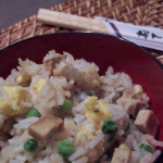 Riz cantonnais au tofu fumé