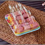 Mini brochettes de melon au jambon cru