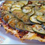 Tarte fine aux courgettes et sauce bolognaise