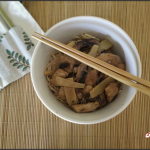 Poulet aux pousses de bambou et aux champignons