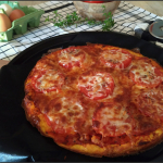 Omelette façon pizza au chorizo