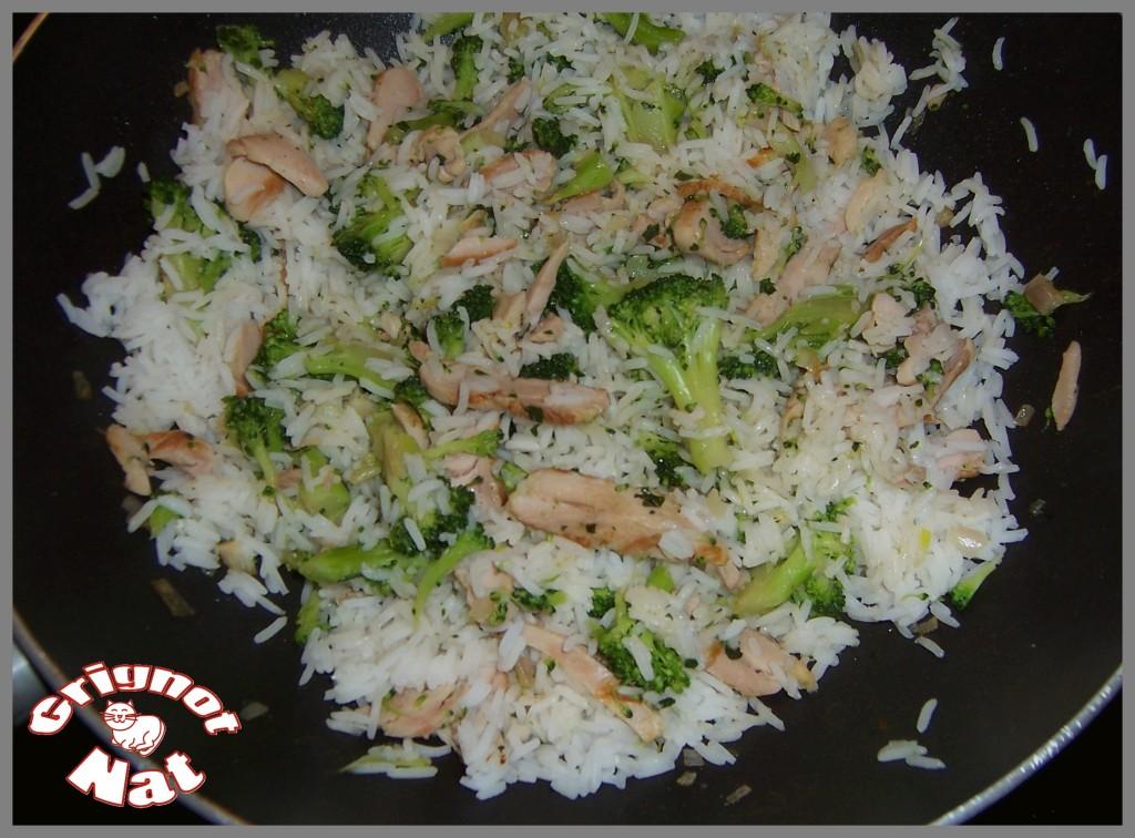 riz poulet - brocolis