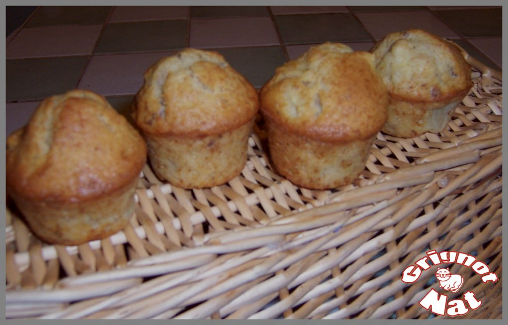 muffins pommes noix