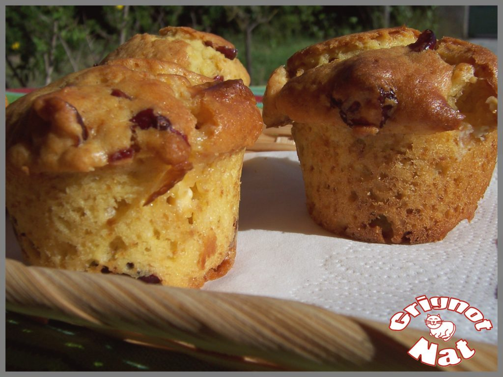 muffins chocolat blanc et cranneberries
