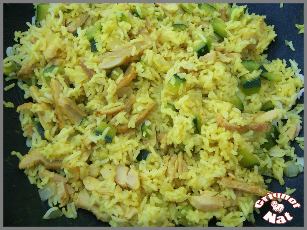 riz curcuma poulet