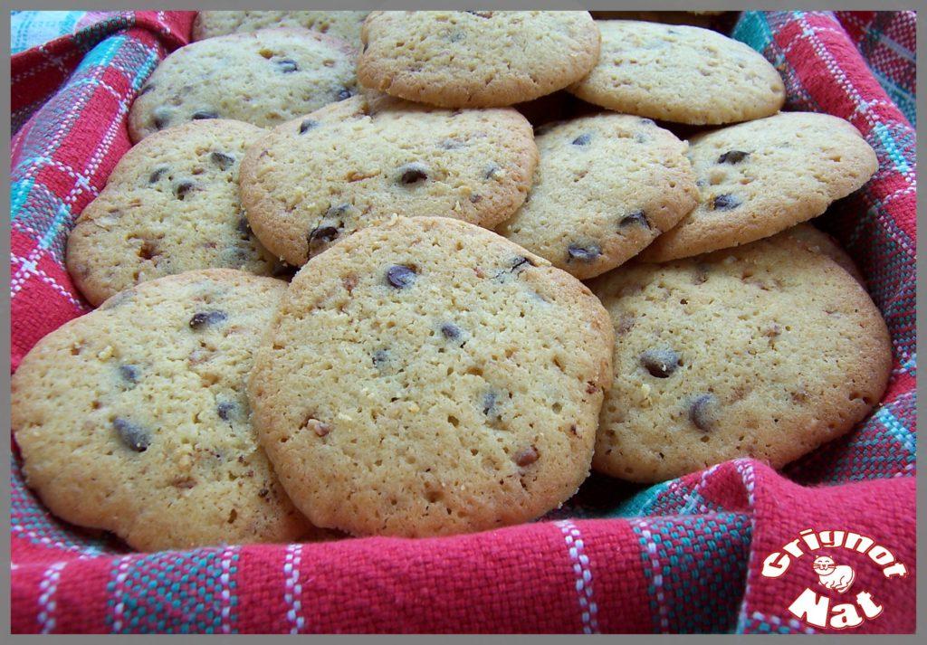 cookies chocolat noir et pralin