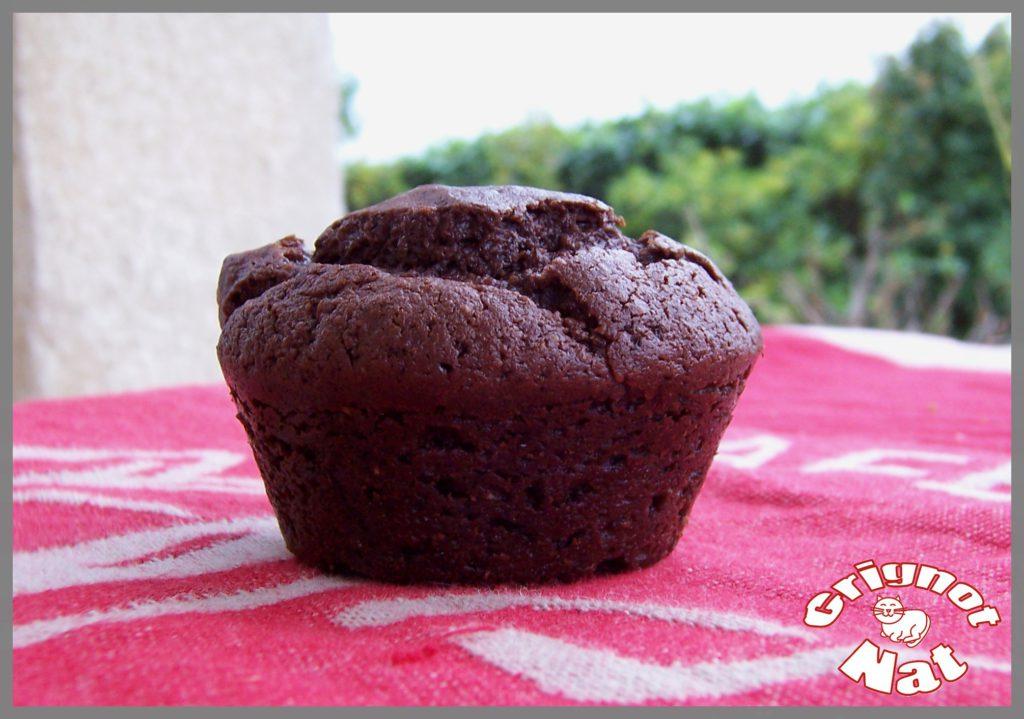 muffin chocolat au tofu soyeux